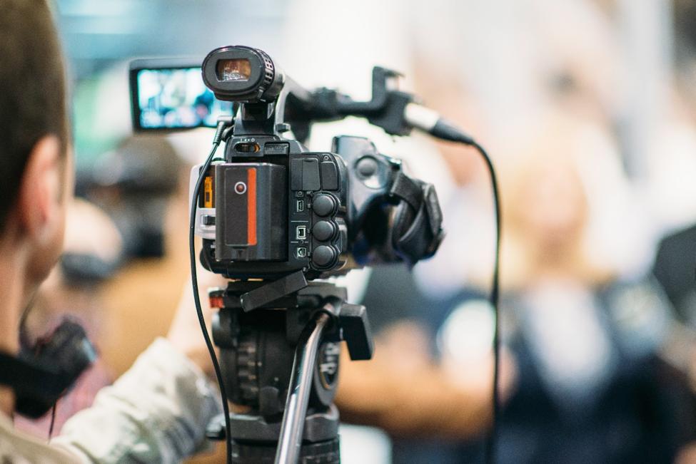 professional video camera setup
