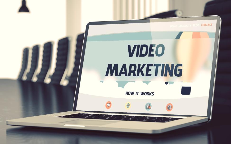 Video Marketing video on laptop